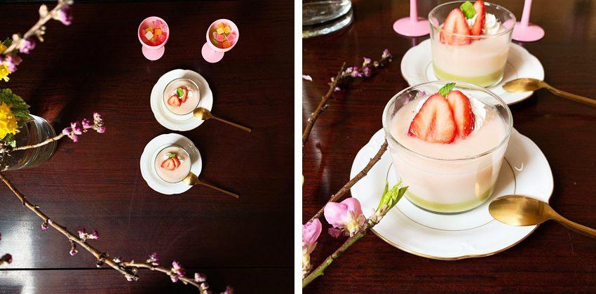 桃の節句の甘酒ゼリー
